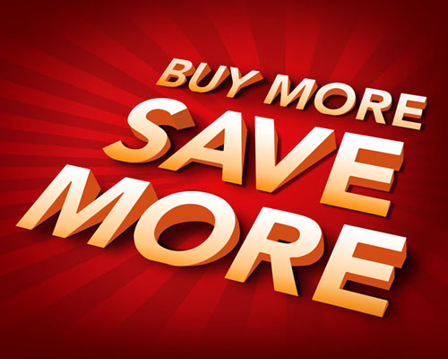 Buy more, Save more small
